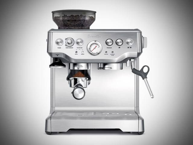 espresso machine with grinder