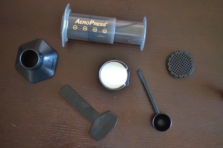 unboxing an aeropress