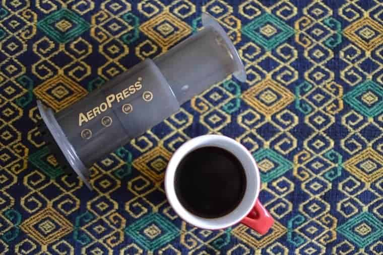 aeropress coffee in mug