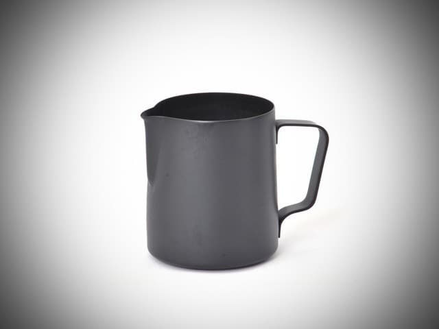 teflon black milk jug