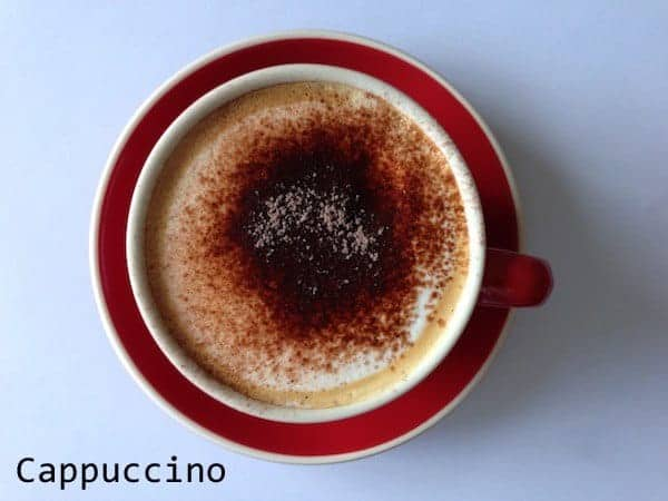 An example of a cappuccino