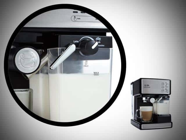 mr coffee barista cafe built in milk frother