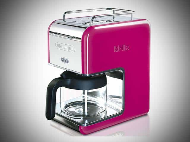 Pink DeLonghi Coffee Maker