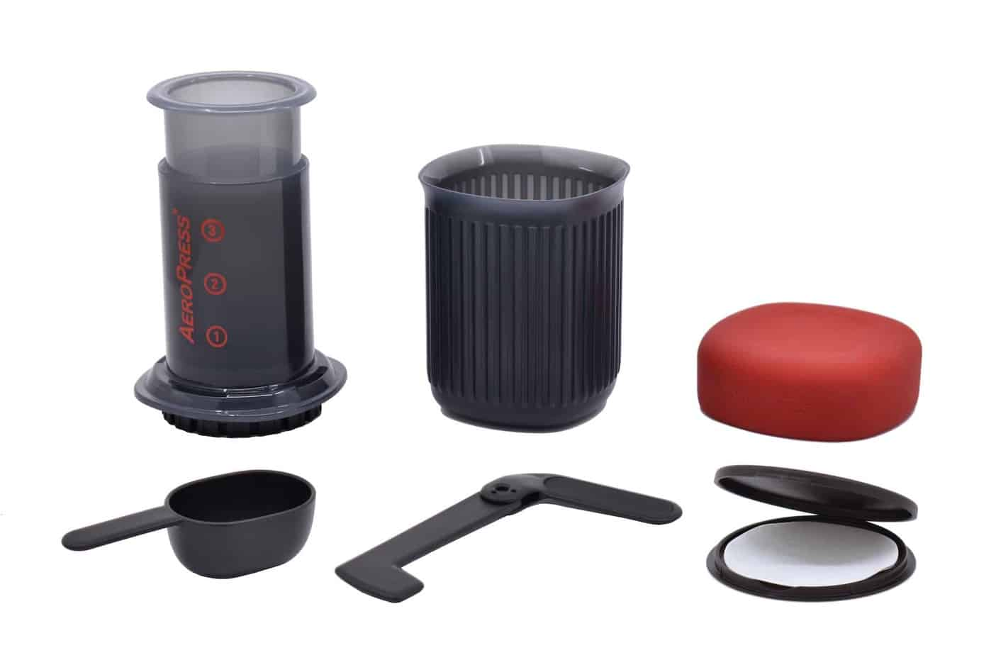AeroPress Go with accessories